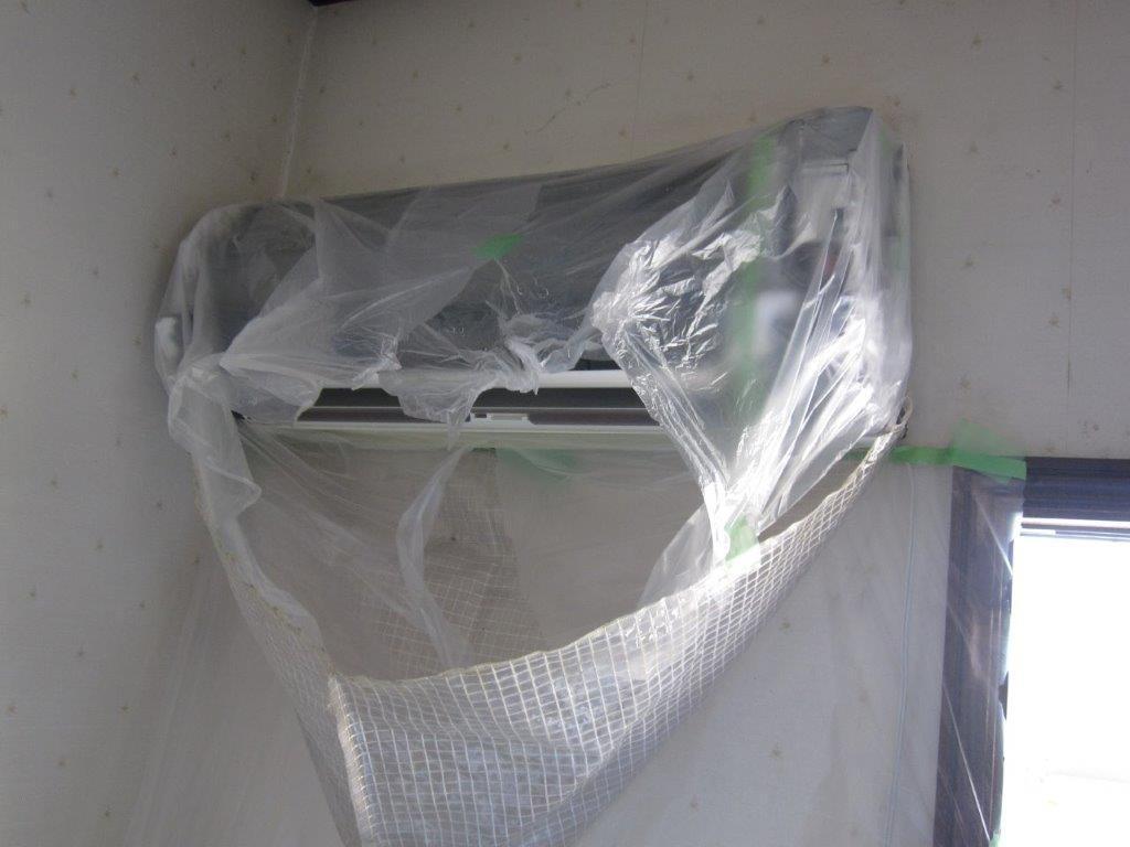 部品外し・電子部の養生・エアコンクリーニング用カバ―シート
